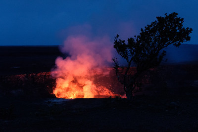 Kilauea Volcano two days before current eruption