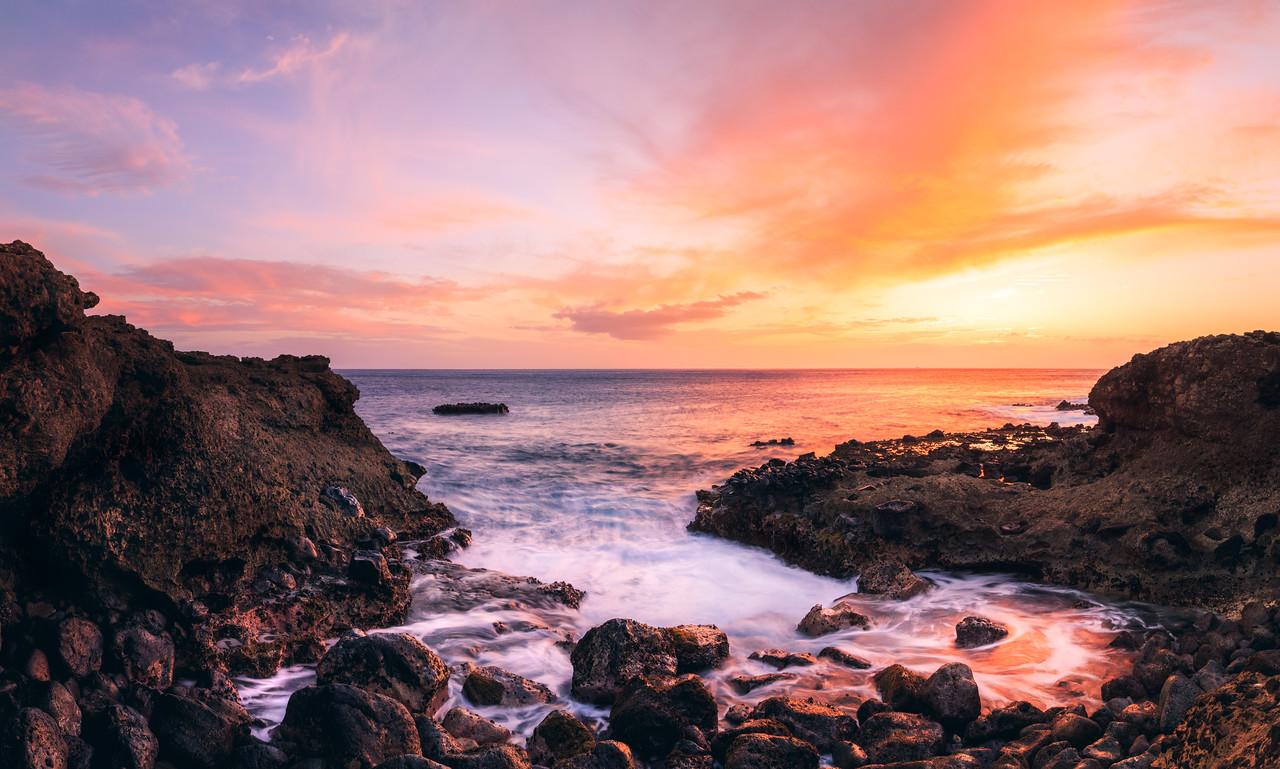 Kaena Point Sunset Pano