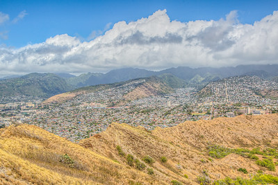 Shot from Diamond Head Volcano, Honolulu, Hawaii, USA
