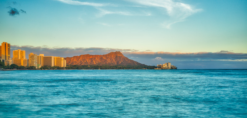 Diamond Head at Sunset
