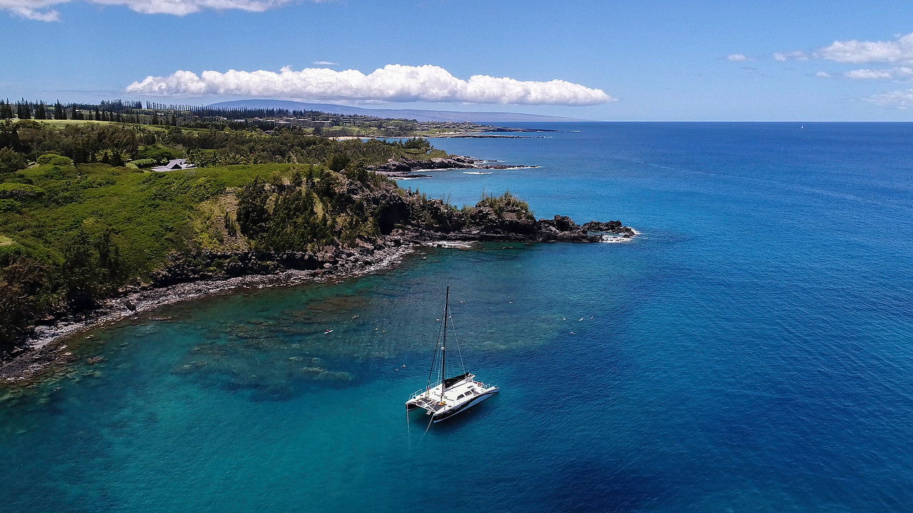 Catamaran at Honolua bay #1
