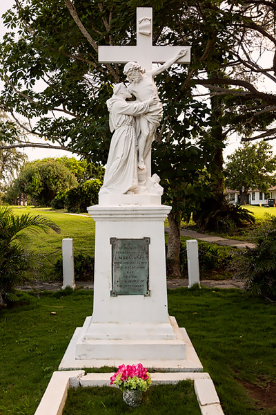 Monument for Mother Marianne Cope, Kalaupapa, Molokai, Hawaii. She arrived in Kalaupapa in 1888 to care for the dying Father Damien and to continue his work. She served the community until her death in 1918. She was both beatified  (2005) and canonized (2012) by Pope Benedict XVI.