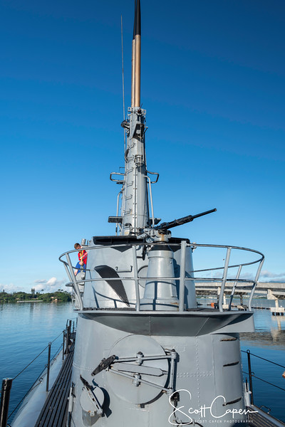 Gun Turret on USS Bowfin