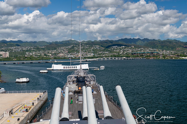 View from the Deck of the USS Missouri