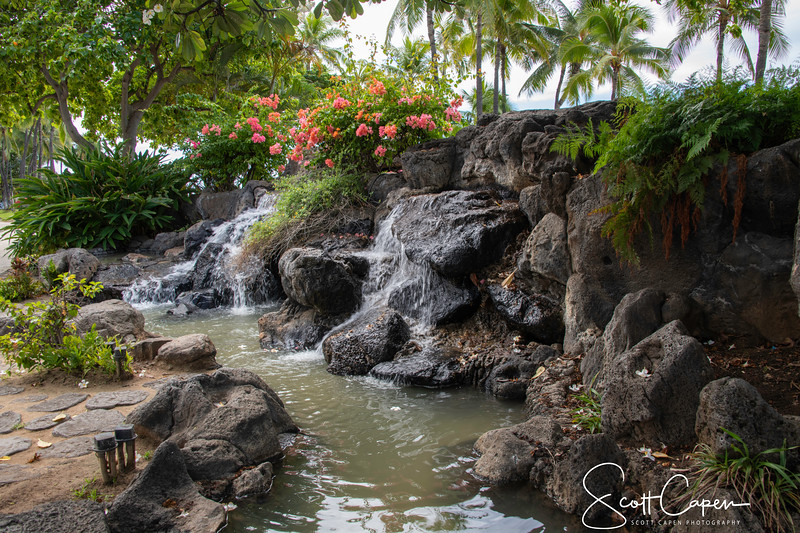 Water Feature, Kalakaua Ave, Waikiki