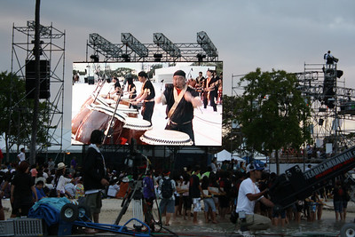 Taiko Drumming on Big Screen