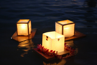 Three Floating Lanterns