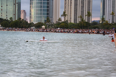 Large Beach Crowd Watching the Event