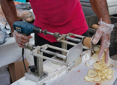 Making Fresh Twisted Tater Chips