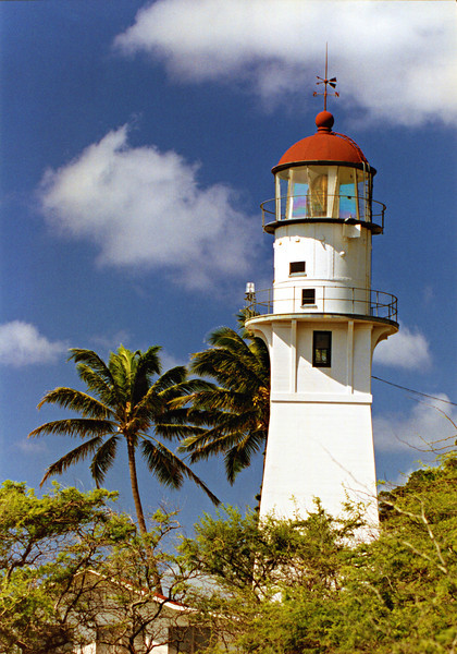 A lookout station was first built on Diamond Head in 1878.  A Swedish immigrant named John Charles Peterson came to Honolulu when he was 18.  He married a local wahine and they had a daughter they named Melika.  Unfortunately, his wife passed away 4 months later.  Peterson took the new job as lookout reporting the arrival of ships bound to Honolulu via semaphore.  He became known as 'Diamond Head Charlie' and held his position for the next 30 years.