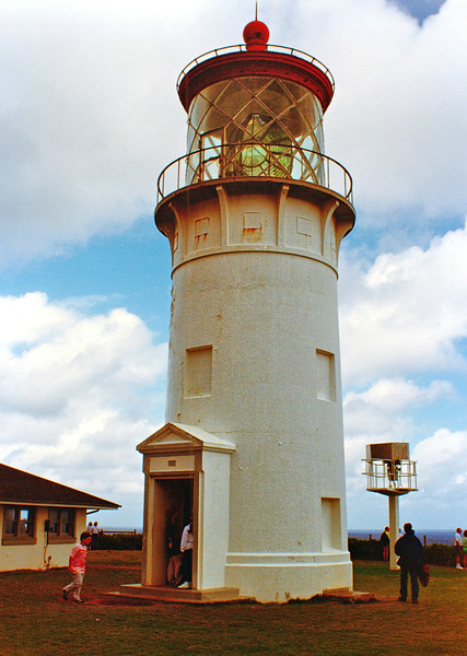 After Pearl Harbor was attacked during WWII the Kilauea Light was darkened for the duration of the war.  As part of the LAMP program the lighthouse was automated when an optic on a concrete pole was constructed in 1976 and personnel were reassigned.  The land was turned over to the Kilauea Point National Wildlife Refuge in 1985.
