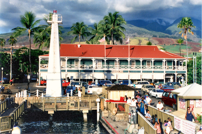 In 1893 the sovereign Hawai'ian monarchy was illegally overthrown by a group of businessman who setup a provisional government.  Kukaia the Keeper of the Lahaina Light refused to take the oath of allegiance to the illegal government and was removed from his position.  After the U.S. annexation of Hawai'i the Lighthouse Board took over the lights in 1904 and built a new 55 foot wooden skeleton tower with a French lens in 1905.  This tower did not last long however.