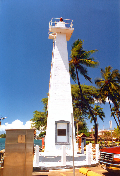 The new 1866 lighthouse was 25 by 30 feet and contained a room for the lights and a sleeping room for the Keeper.  The two new kerosene lamps were lit on November 8, 1866 and shone through green glass.  Later red glass was substituted and the lights range was reported as 6 miles.  Over the years the lighthouse was battered by storms and the wood decayed quickly in the tropics requiring annual repairs to be made.