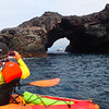 Hawaii, UnCruise Adventures, Safari Explorer Framed by Sea Cave, Big Island Hawaii