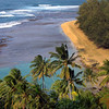 Hawaii, Kauai, Ke'e Beach from Kalalau Trail