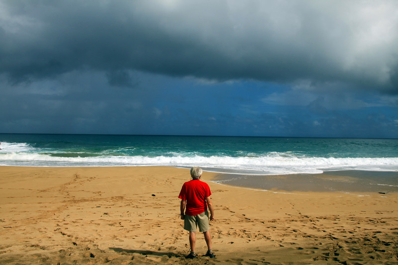 Hawaii, Kauai, Approaching Storm