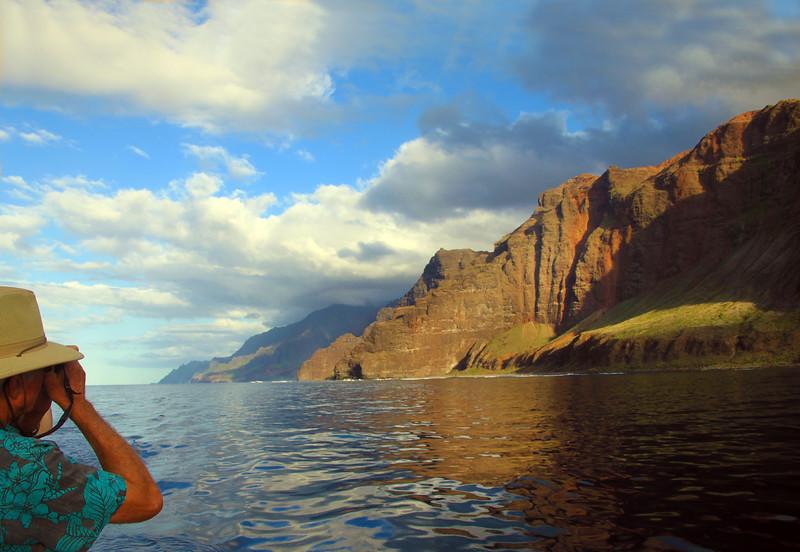 Hawaii, Kauai, Na Pali Coastline, Captain Andy's Sunset Cruise