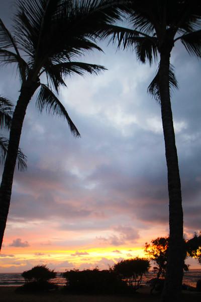 Hawaii, Kauai, Sunrise Over Coconut Coast