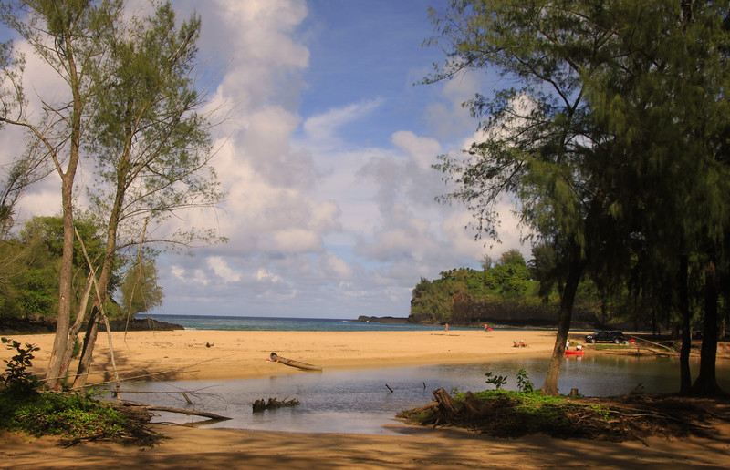 Hawaii, Kauai, Beach Scene, North Shore