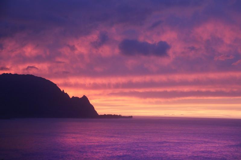 Hawaii, Kauai, Sunset Over Hanalei Bay