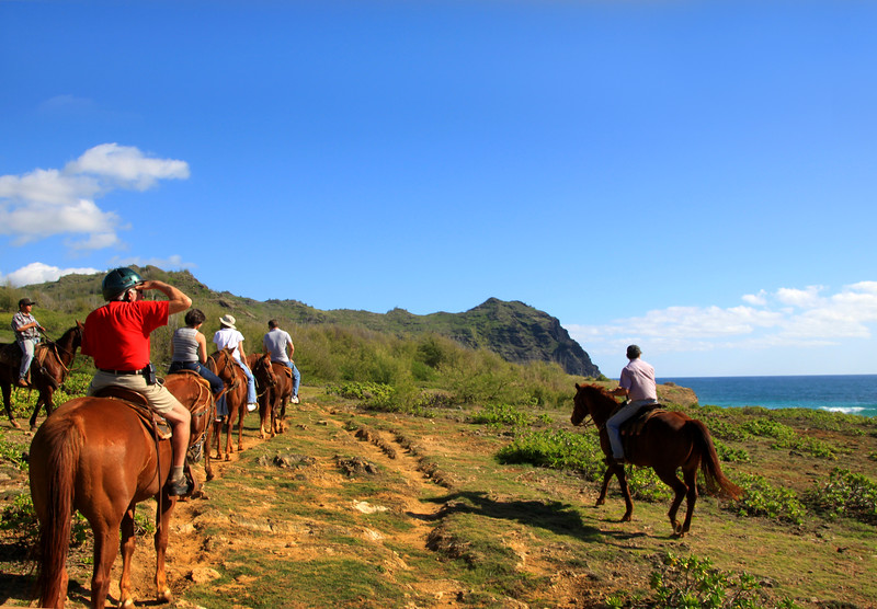 Hawaii, Kauai, horseback ride,  CJM Country Stables