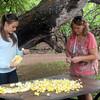 Hawaii, UnCruise Adventures, Molokai, Making Leis