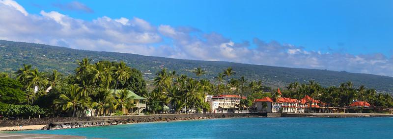Hawaii, UnCruise Adventures, Shoreline Panorama, Kona, Big Island