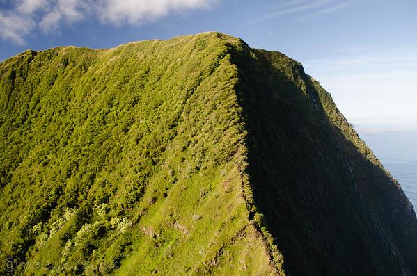 Approaching the Mountains of Molokai