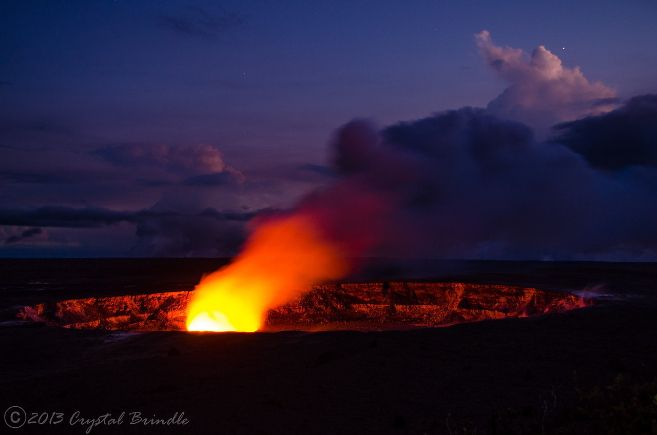 Kilauea Crater at Dusk