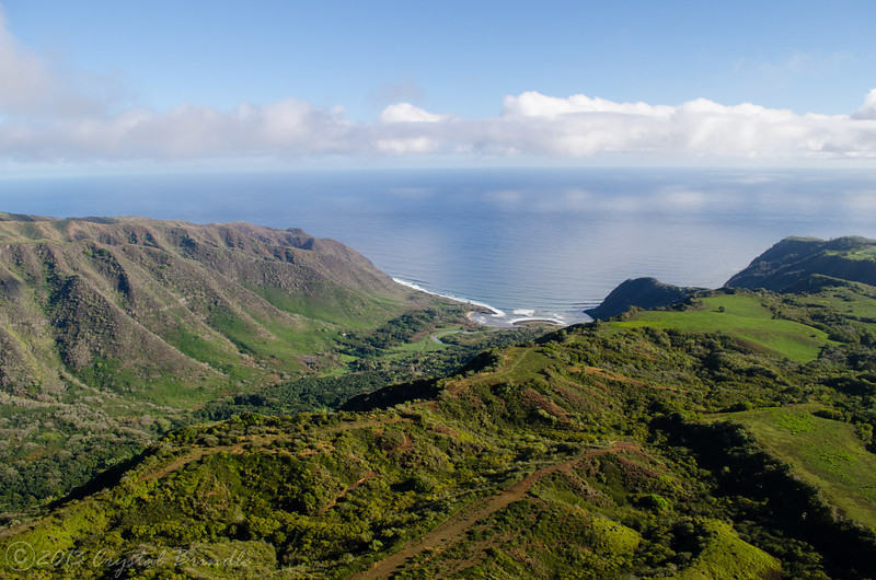Aerial View of Halawa Valley