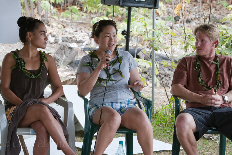 The Future of Plant Conservation Round table with Namaka Whitehead, Amy Tsuneyoshi, and Willie Rice.