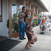Anna Akaka dances Kinue, a hula in honor of the Greenwell family.