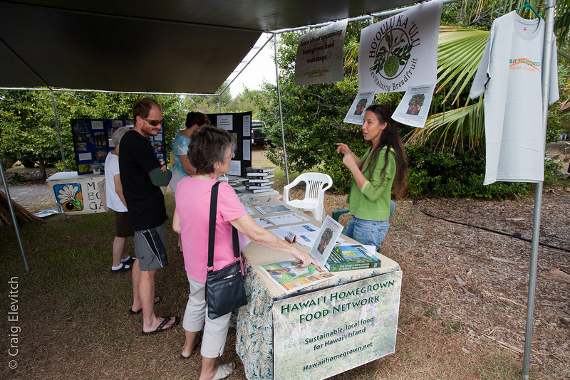 Hawai'i Homegrown Food Network promoted the Ho'oulu ka 'Ulu project, which will have it's second breadfruit festival at the Garden on September 29, 2012.