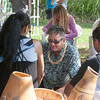 Master craftsperson Kauhane Morton led an activity making cordage from hau fiber.