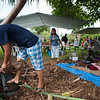 The Mau Piailug Satawal 'Ohana prepared many dishes, including one with coconut milk that they made on site.
