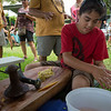Everyone was invited to try their hand at 'ulu poi.