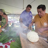 Sam Choy demonstrates a traditional Samoan dish.
