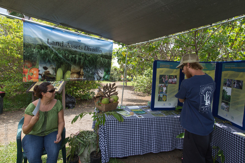 The display by Kamehameha Schools Land Asset Division attracted much interest.