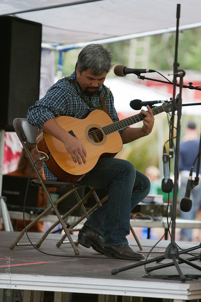 Keoki Kahumoku was one of several artists who donated their musical talents to the festival.
