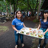 Kua O Ka La students delivered buffet lunch meals to festival-goers.