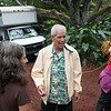 'Anakala Isaiah Kealoha, a native of Kalapana, arrives at the festival grounds.
