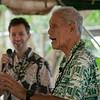 'Anakala Isaiah Kealoha shared his extensive knowledge of 'ulu in the cooking demo tent.