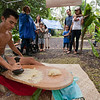 Kauhi Maunakea-Forth demonstrated kui 'ai with 'ulu.