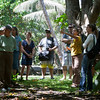 Auntie Susie leads a tour of the Kua O Ka La Charter School grounds.