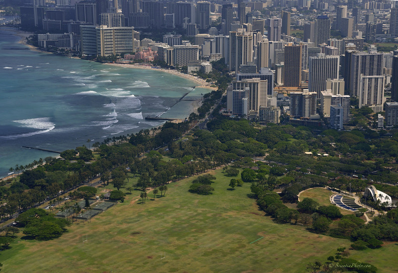 Kapiolani Park, Waikiki & The Royal Hawaiian
