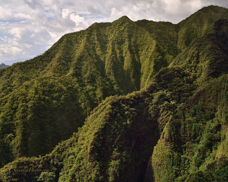 Narrow Cliff Dividing One Valley from the Next in the Koolau Range