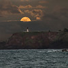 Moonrise Over the Kilauea Lighthouse (December 2016)