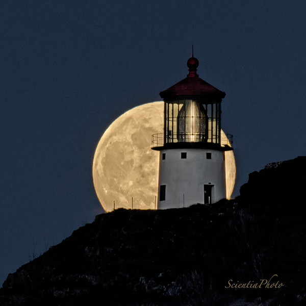 Full Moon over the Makapuu Lighthouse