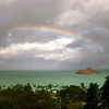 Rainbow over Mokulua Nui from Lanikai (2003)