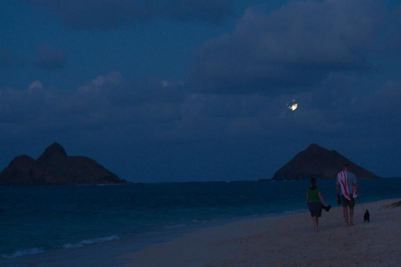 Moonrise Over the Mokuluas from Lanikai (2009)